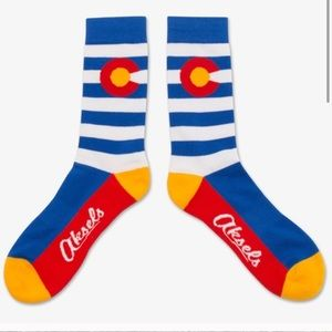 Colorado Flag Socks Askels NWT Red White Blue